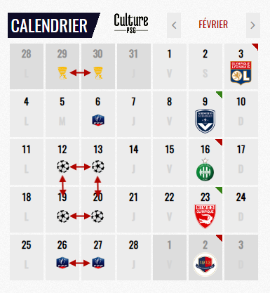 Psg Calendrier Match.Club 20 Matches En 10 Semaines Le Calendrier Dementiel