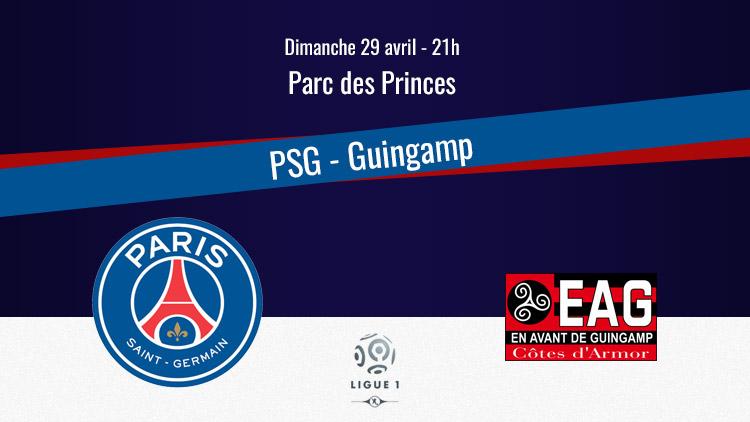 Les indices sur le compo — PSG-Guingamp