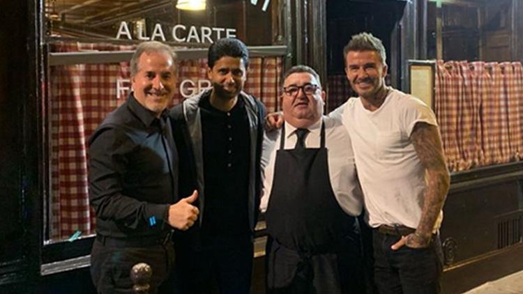 De passage à Paris, Beckham a dîné avec Al-Khelaïfi