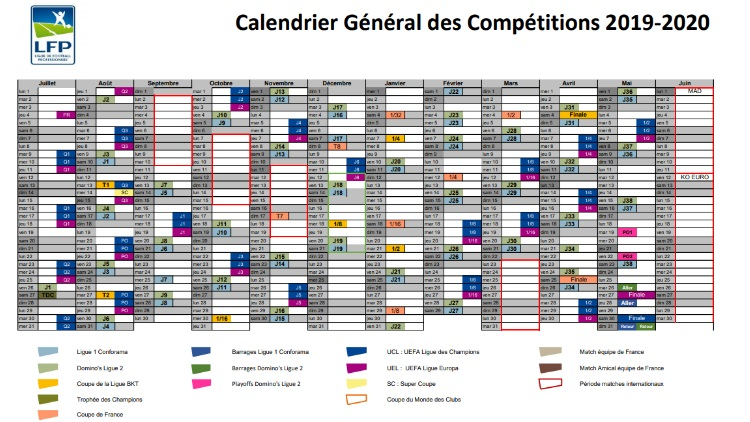 Coupe De France Calendrier 2020.Club Les Grandes Dates De La Saison 2019 2020 Devoilees