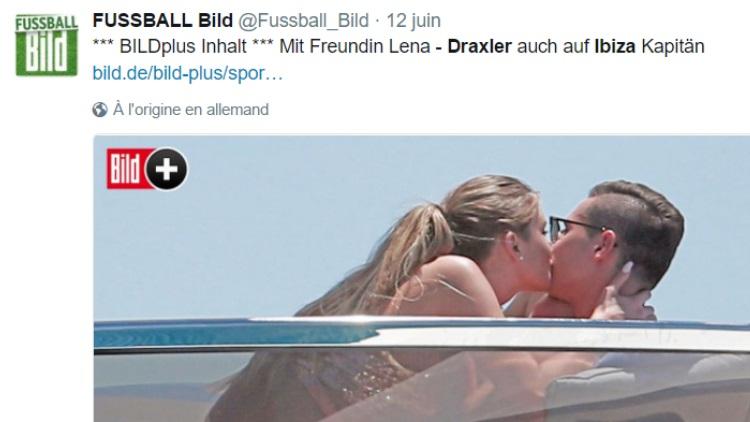 Draxler dans la presse à scandale pour une virée à Ibiza