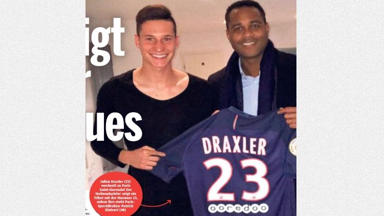 Maillot THIRD Paris Saint-Germain Julian DRAXLER