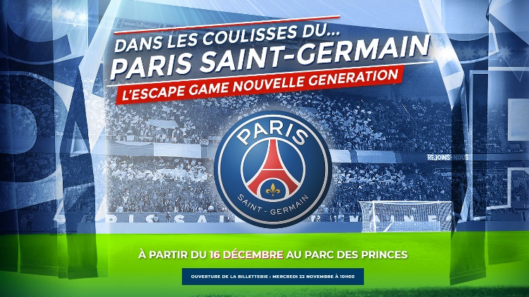 Le PSG ouvre son escape-game