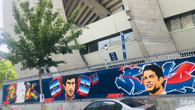 De nouvelles fresques apparaissent autour du Parc des Princes