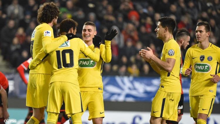 Le PSG en démonstration à Rennes — Coupe de France
