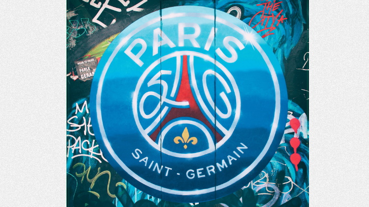 Premières utilisations pour le logo des 50 ans du PSG