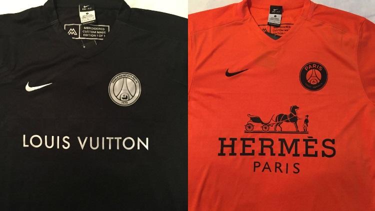 cc3d867b9 Club : Des maillots du PSG façon Vuitton, Hermès et Versace faits par des  designers