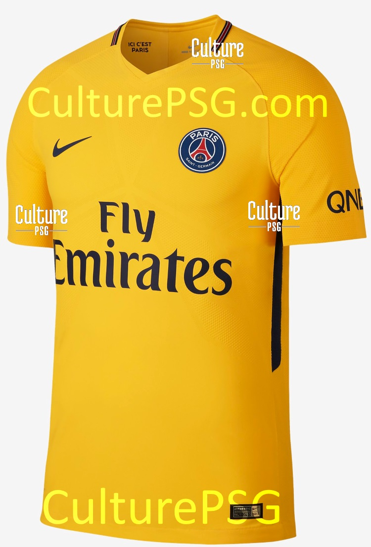club exclu nouveaux visuels pour le maillot ext rieur 2017 2018 du psg culturepsg. Black Bedroom Furniture Sets. Home Design Ideas