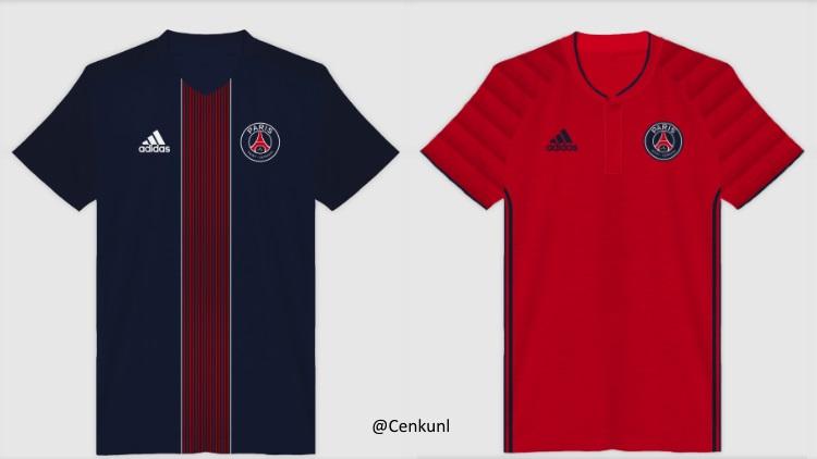 Image les maillots 2016 2017 du psg revisit s fa on for Maillot psg exterieur 2016