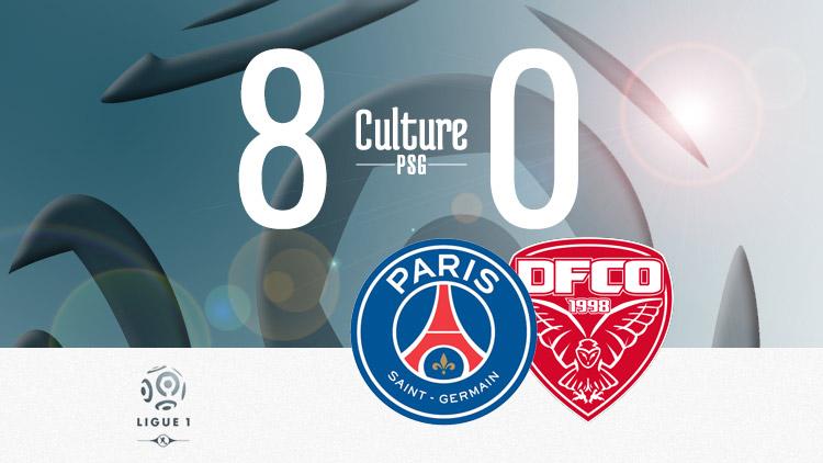Le PSG en démonstration face à Dijon à la pause