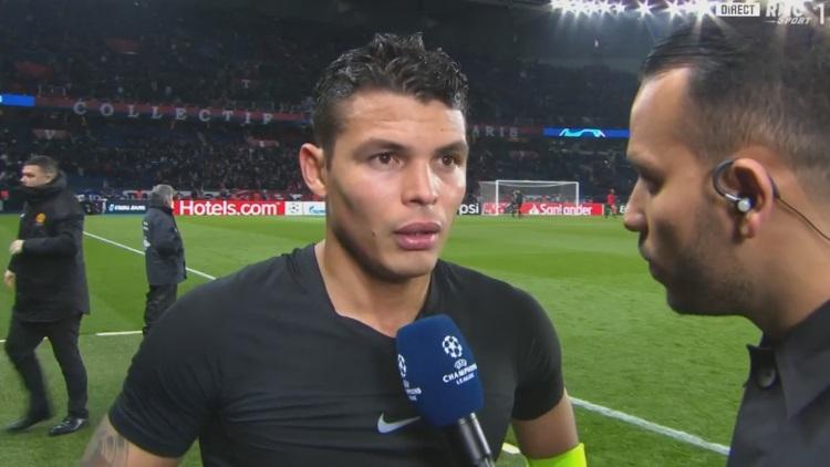 PSG-Manchester : Thiago Silva s'excuse auprès des supporters après l'élimination