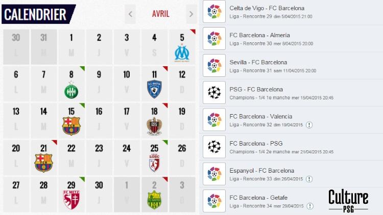 Calendrier Barca 2021 Club : PSG, Barça, un calendrier infernal des deux côtés | CulturePSG