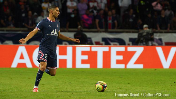 Hakimi parmi les 3 joueurs qui sprintent le plus en Ligue 1