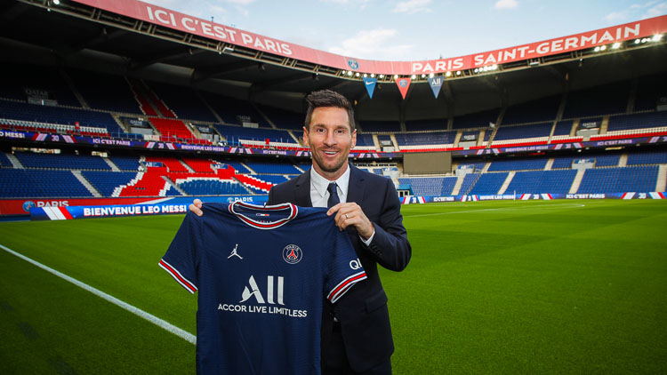Près d'1M€ de vente de maillots de Messi en trois heures pour le PSG